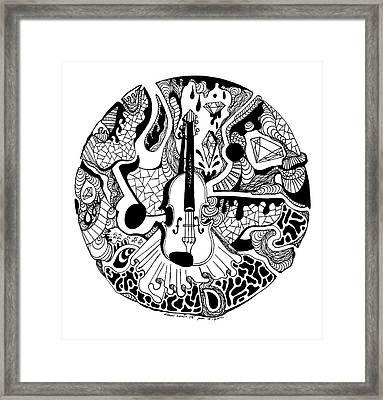 Circle Of Strings Framed Print by Kenal Louis