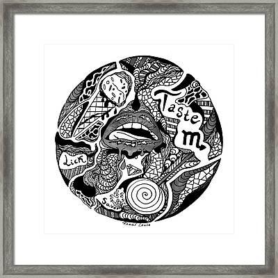 Circle Of Taste Framed Print by Kenal Louis
