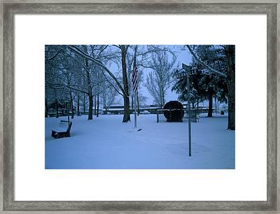 Circle Park - Kernville California Framed Print