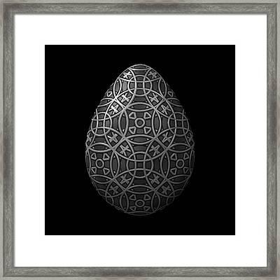 Circle Pattern Steel Egg Framed Print by Hakon Soreide