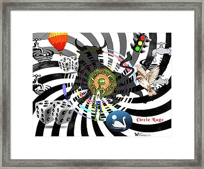 Circle Rage II Framed Print