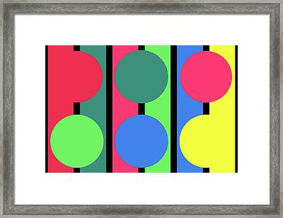 Circle Stripe - Winter Framed Print
