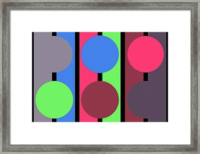 Circle Stripe - Zentao Framed Print