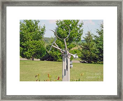 Circle Triangle Square A Kinetic Sculpture Framed Print