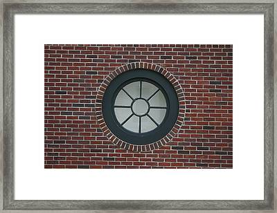 Circle Window Framed Print by Dennis Curry