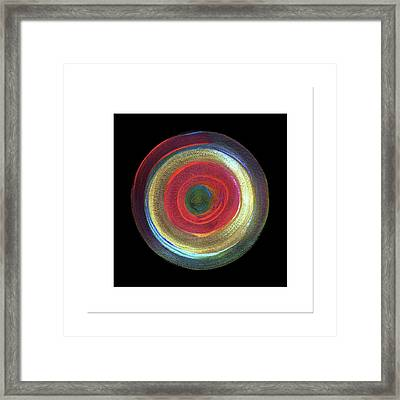 Circled Framed Print by Mimo Krouzian