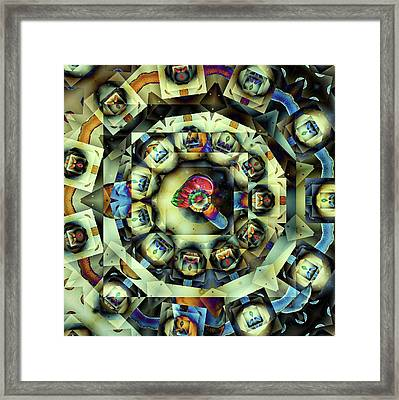 Circled Squares Framed Print by Ron Bissett