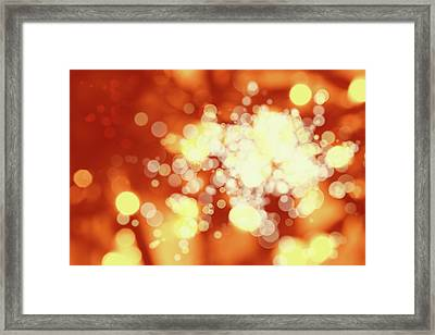 Circles 7 Framed Print by Les Cunliffe