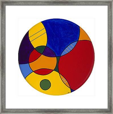 Circles Abstract 1 Framed Print by Patty Vicknair