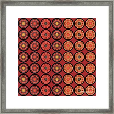 Circles And Centers Framed Print by Gaspar Avila