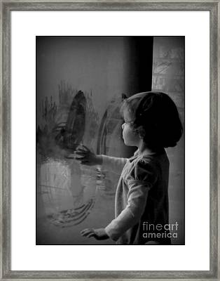 Circles And Hands Of Love Framed Print by Diane M Dittus