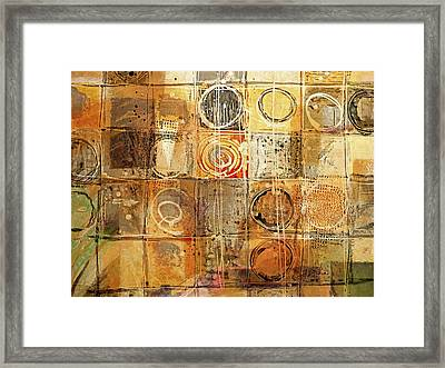 Circles And Squares Framed Print