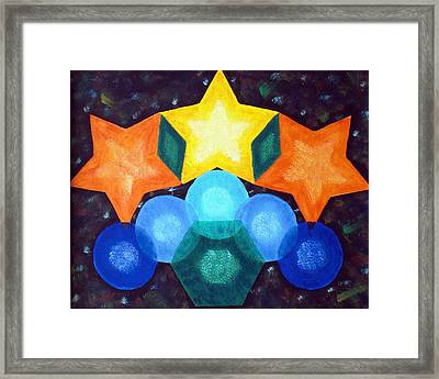 Circles And Stars Framed Print by Nancy Otey
