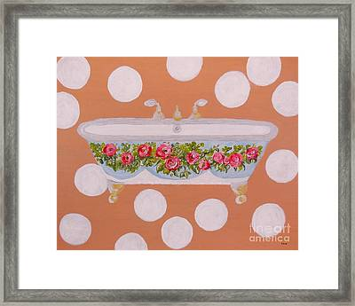 Circles And Suds Framed Print