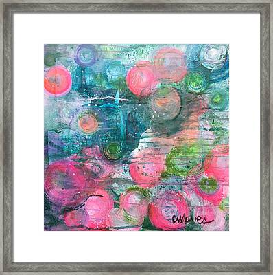 Circles For San Marco  Framed Print by Laurie Maves ART