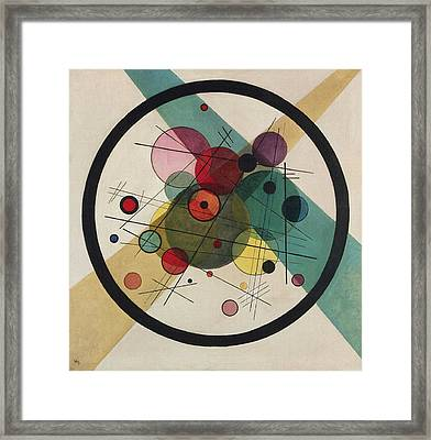 Circles In A Circle Framed Print by Wassily Kandinsky