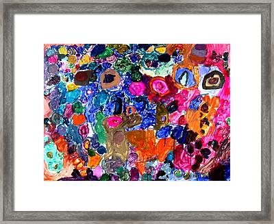 Circles Framed Print by Janice Michaud