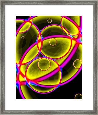Circles Framed Print by Lola Connelly