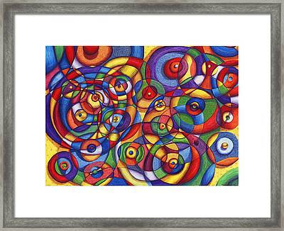 Circles Framed Print by Maureen Frank The Mandala Lady