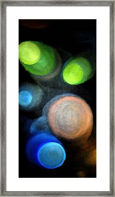 Framed Print featuring the digital art Circles Of Light by Saad Hasnain
