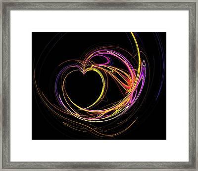 Circles Of Love Framed Print
