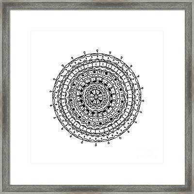 Circles Pattern Framed Print