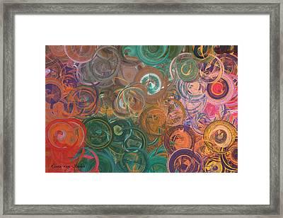 Circles  Framed Print by Riana Van Staden