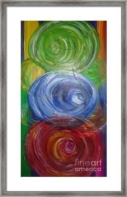 Concentric Joy Framed Print
