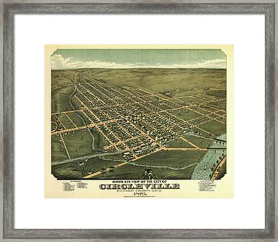 Circleville Ohio 1876 Framed Print