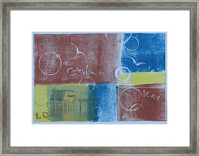 Circling The Key Framed Print by Libby  Cagle