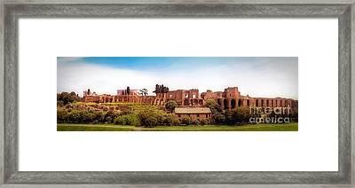 Circo Massimo Panoramic Framed Print by Sue Melvin