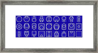Circuare -alphabet- Grid Blueprint Framed Print by Coded Images