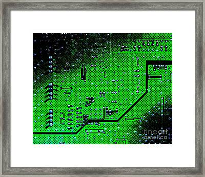 Circuit Board Background Framed Print