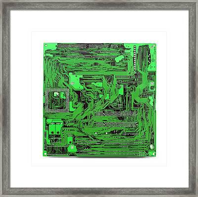 Circuit Board Framed Print by Cristian M Vela