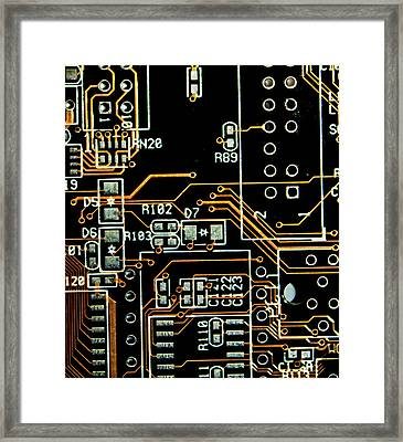 Circuit Board Framed Print by Martin Newman