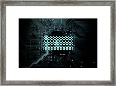 Circuit Board Projecting Text Framed Print