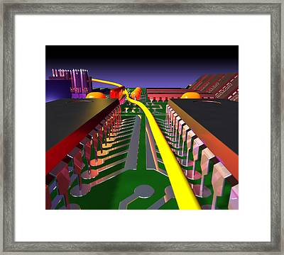 Circuit Board Framed Print by Roger Harris