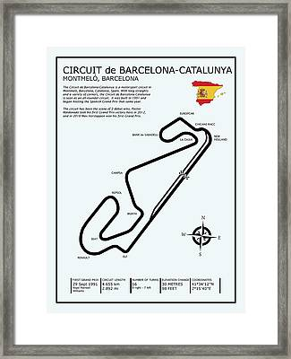 Circuit De Barcelona Catalunya Framed Print by Mark Rogan