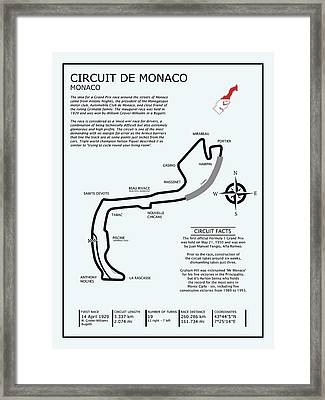 Circuit Of Monaco Framed Print