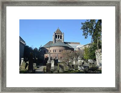 Circular Congregational Church Framed Print by Gordon Mooneyhan
