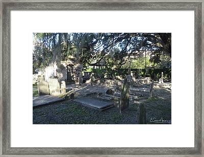 Circular Congregational Graveyard 1 Framed Print by Gordon Mooneyhan