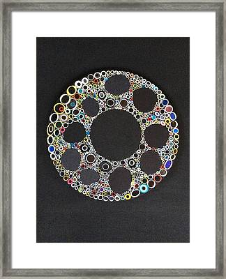 Circular Convergence Of Mutated Molecules Framed Print