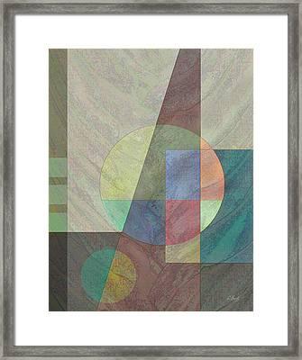 Circular Framed Print by Gordon Beck