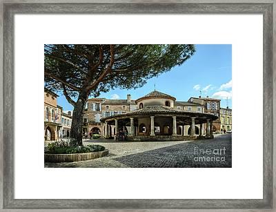 Circular Grain Market In Auvillar Framed Print by RicardMN Photography