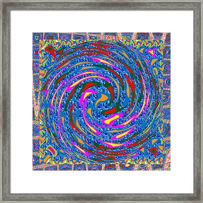 Circular Motion Waves Colorful  Abstract Art  Download Jpg File For Personal N Commercial Projects  Framed Print