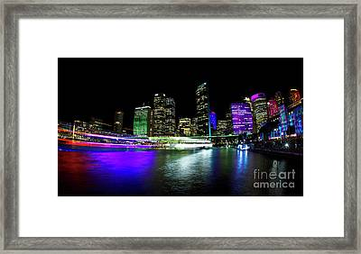 Circular Quay, Vivid Sydney Framed Print by Bryan Freeman