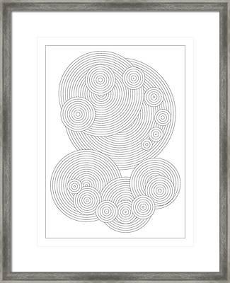 Circular Sunday Framed Print