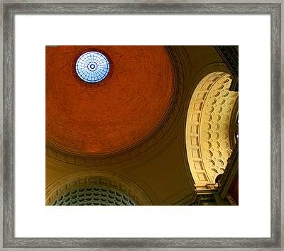 Circular Vision Framed Print by Julie Lueders