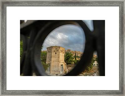 Circular Window To The Past 2 Framed Print
