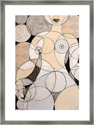 Circularity Framed Print by Joanne Claxton